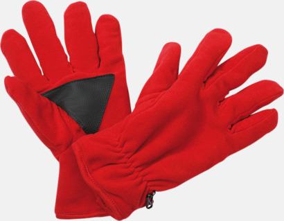Röd Thinsulatevantar med eget tryck