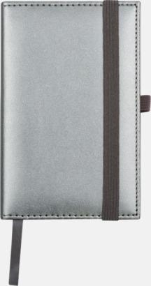 Silver Silverfärgade anteckningsblock med rutade papper - med reklamtryck