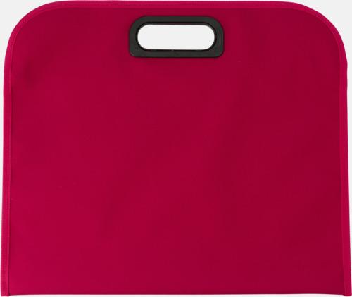 Röd (baksida) Billiga dokumentfodral i många färger - med reklamtryck