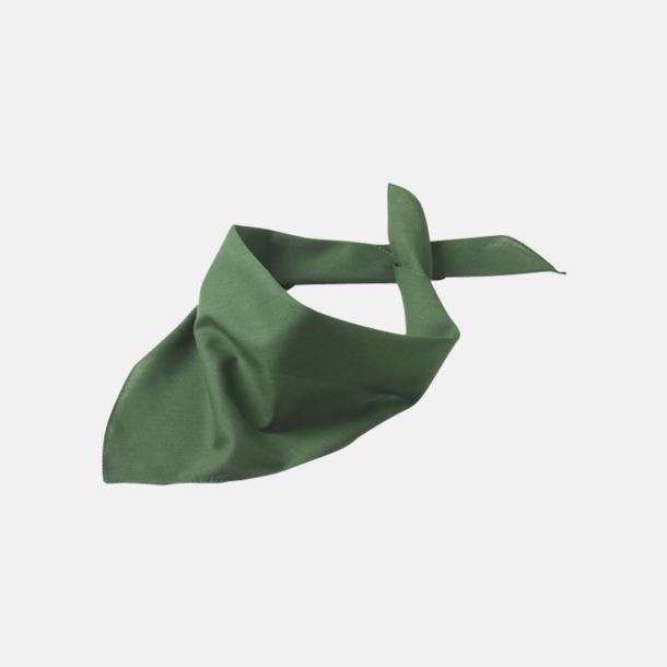 Dark Green Billiga scarfar med reklamtryck