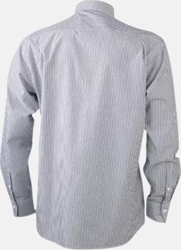 Bomullsblusar & -skjortor med fina ränder - med reklamtryck