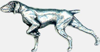 Pointer Engelska, handgjorda broscher med jaktmotiv