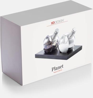 Presentförpackning Designat salt- & peppar set med reklamtryck