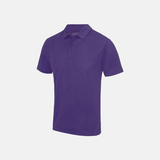 Lila Färgglada pikétröjor med reklamtryck