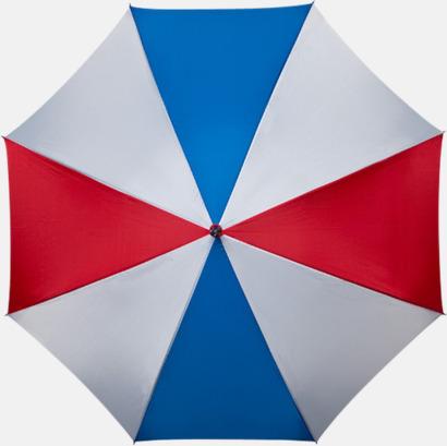 Blå / Vit Golfparaplyer med gummerade handtag
