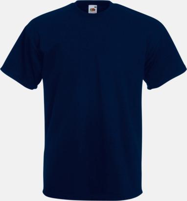 Deep Navy Kraftig t-shirt med reklamtryck