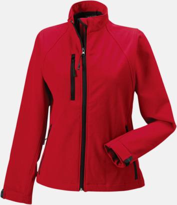Classic Red Softshell-jackor i dammodell med reklamtryck