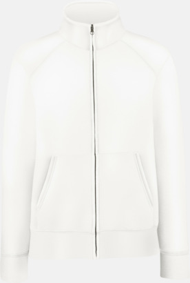 Vit Figursydd jacka eller tröja för damerna