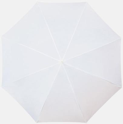 Vit Färgstarka och eleganta paraplyer med reklamtryck