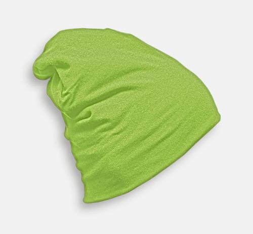 Lime Skräddarsydda bomullsmössor med fleecefoder