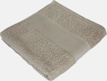 Sand Prisvärda handdukar i flera storlekar med brodyr