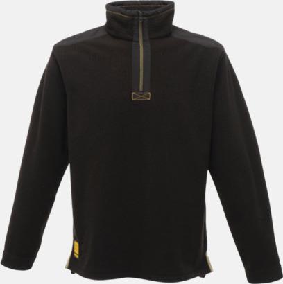 Svart Fleecetröjor av hög kvalitet med brodyr