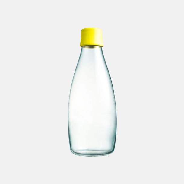 Yellow Större glasflaskor med reklamtryck