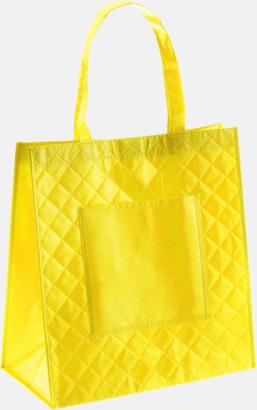 Gul Väska i laminerad non-woven med reklamtryck