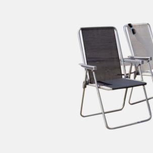 1-lägesstol av campingmodell med reklamtryck