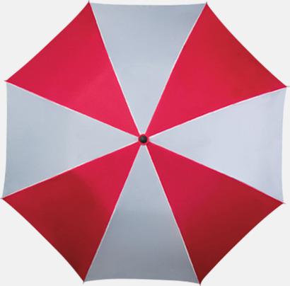 Röd / Vit Randiga paraplyer med eget tryck