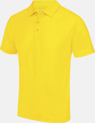 Sun Yellow Färgglada pikétröjor med reklamtryck