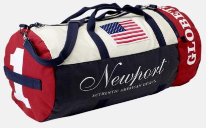 Marinblå/vit/röd Weekendbag från Newport