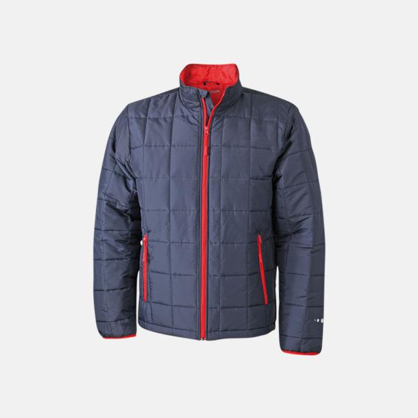 Marinblå/Röd (herr) Lättviktsjackor med tryck