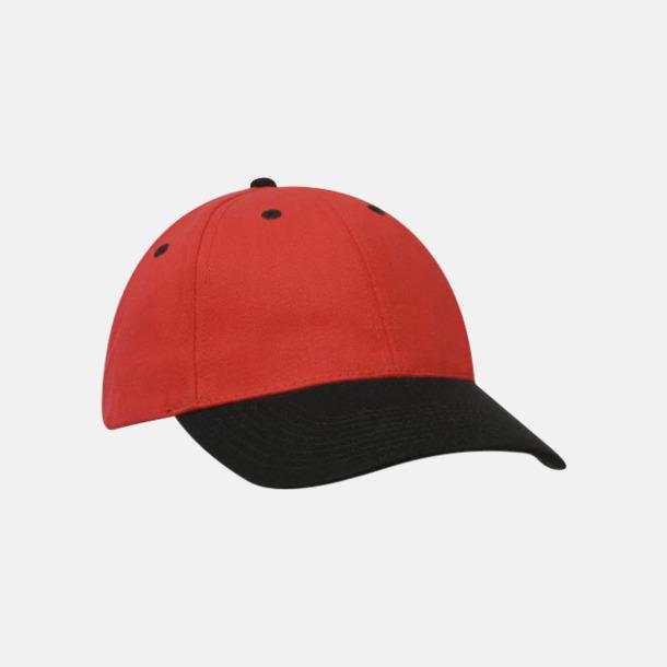 Röd / Svart klassiska basebollkepsar med reklambrodyr