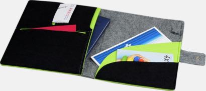 Dokumentmapp och surfplattefodral med reklamtryck