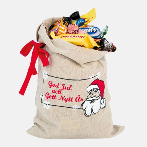 500 gram (utan tryck) Julsäckar i 3 storlekar med godis