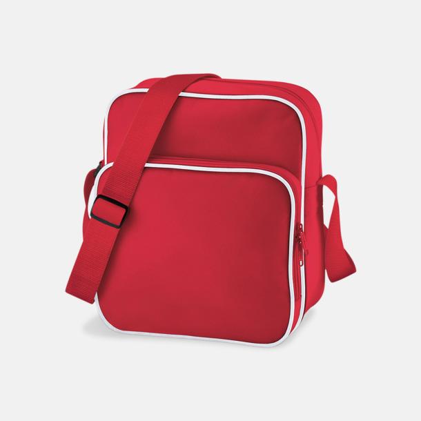 Classic Red/Vit Mindre väska med eget reklamtryck