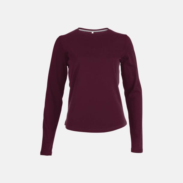 Wine (crewneck, dam) Långärmad t-tröja med rundhals för herr och dam med reklamtryck