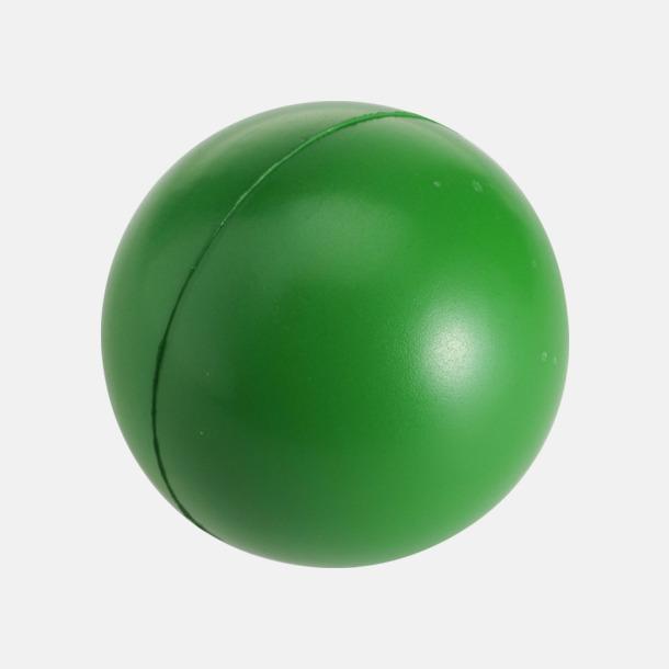 Grön Större stressbollar med reklamtryck