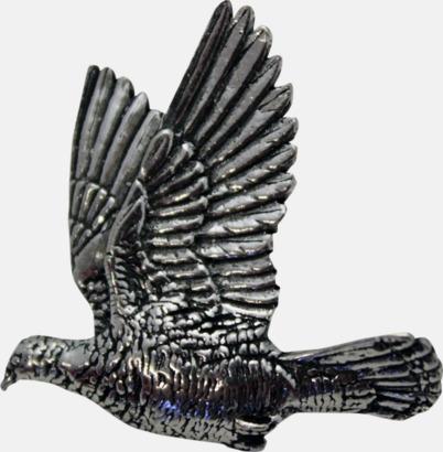 Duva Engelska, handgjorda broscher med jaktmotiv