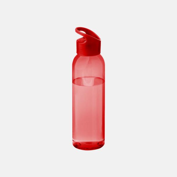 Röd/Transparent röd Bärvänliga vattenflaskor i tritan med reklamtryck