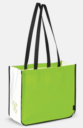 Grön Stor kasse av i återvunnet non woven-material med reklamtryck