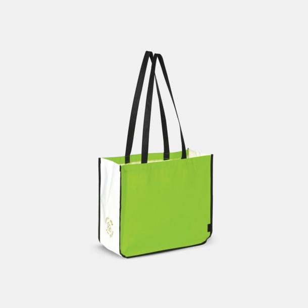 Grön Stor kasse av non woven-material med reklamtryck