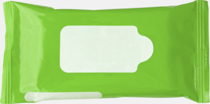 Limegrön Box med 10 pre-fuktade näsdukar - med reklamtryck