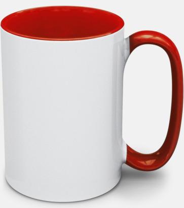 Röd Stengodsmuggar med valbar färg på insidan
