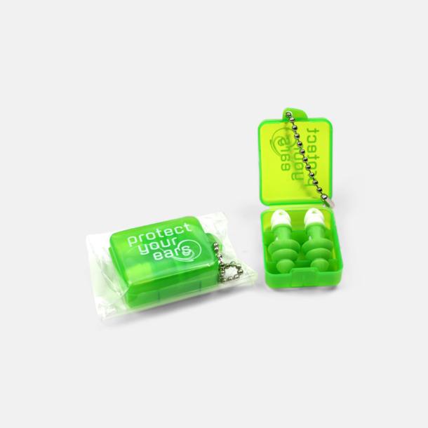 Grön Öronproppar i plastask med tryck