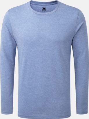 Blue Marl (herr) Färgstarka långärms t-shirts i herr-, dam och barnmodell