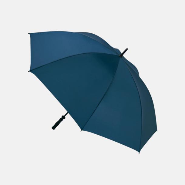 Marinblå Golfparaplyer med eget reklamtryck