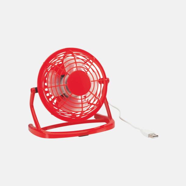 Röd Minifläktar för skrivbordet med reklamtryck