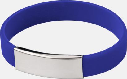 Cobalt Silikonarmband med metallplatta - med reklamtryck