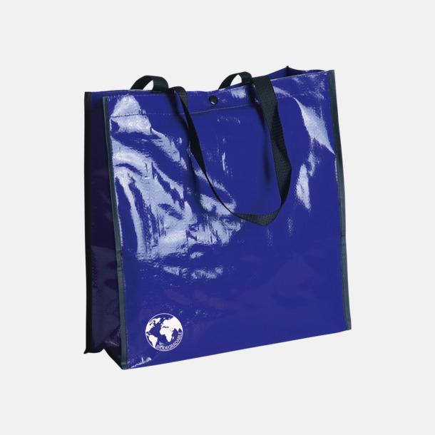 Blå Biologiskt nedbrytbara shoppingbagar med reklamtryck