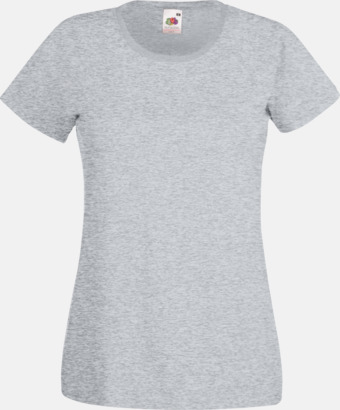 Heather Grey Figursydd damt-shirt med reklamtryck