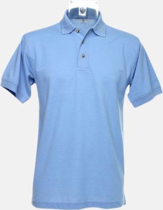 Ljusblå Arbetspikétröjor i många färger - med reklambrodyr