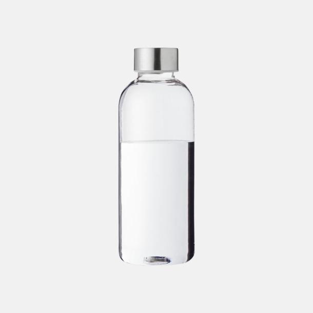 Transparent Klar/Silver Stilrena vattenflaskor med reklamtryck