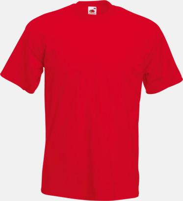Röd Kraftig t-shirt med reklamtryck