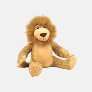 Större gosedjurs lejon med reklamtryck