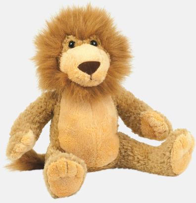 Gyllenbrun Större gosedjurs lejon med reklamtryck