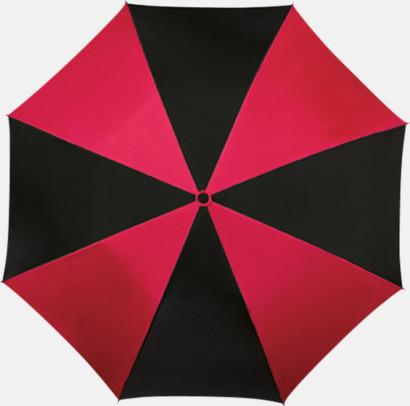 Röd / Svart Randiga paraplyer med eget tryck