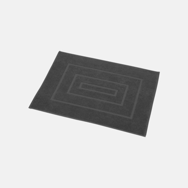 Mörkgrå Badrumsmatta handduk med reklambrodyr