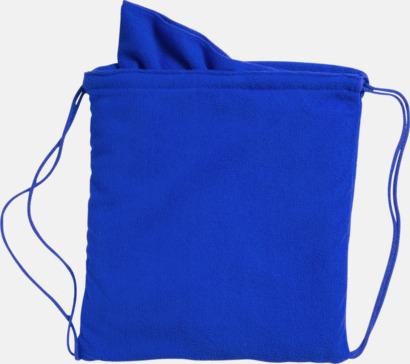 Blå Gymnastikpåse med matchande handduk med reklamlogga